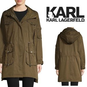 Karl Lagerfeld Paris Jacket Olive Green Fabulous